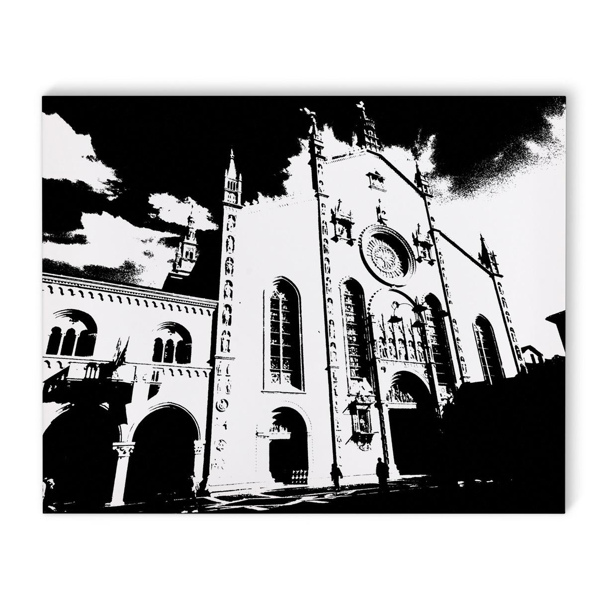 Kavka Designs Lake Como Italy Cathedral Black White Canvas Art Overstock 17077102