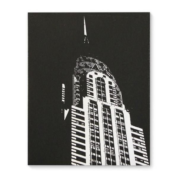 Kavka Designs Chrysler Building Black White Canvas Art