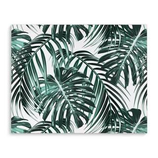 Kavka Designs Tropical Green Green/White Canvas Art