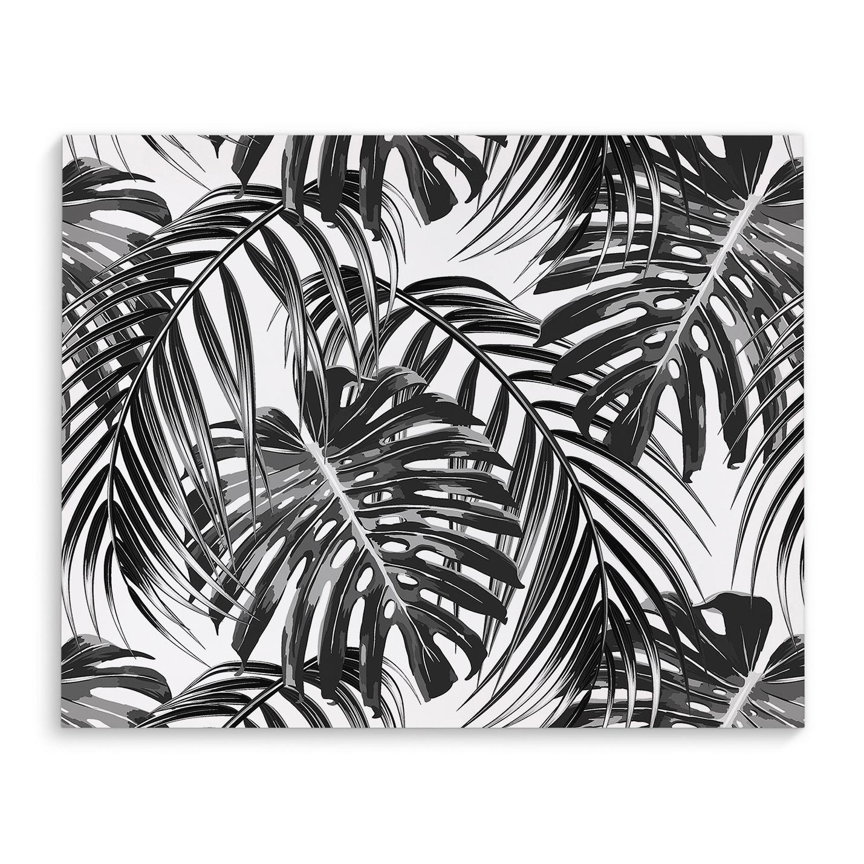Kavka Designs Tropical Black White Canvas Art Overstock 17077128