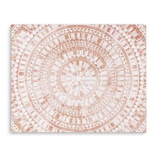 Kavka Designs Mandala Rose Pink Canvas Art