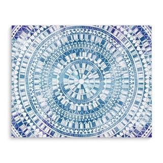 Kavka Designs Mandala Blue Purple/Blue Canvas Art