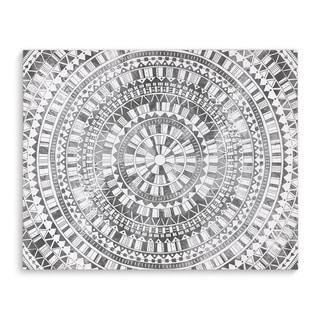 Kavka Designs Mandala Grey Grey/White Canvas Art