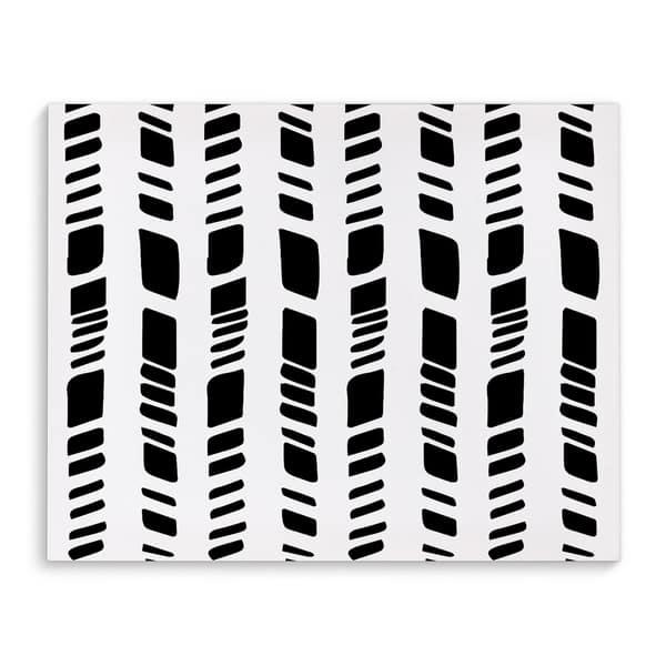 Kavka Designs Baby Tribal White Black Canvas Art Overstock 17077169