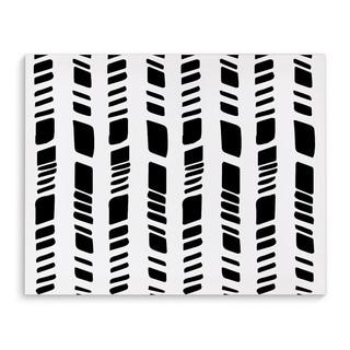 Kavka Designs Baby Tribal White Black/White Canvas Art