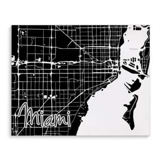 Kavka Designs Miami Black/White Canvas Art