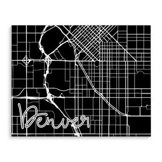 Kavka Designs Denver Black/White Canvas Art