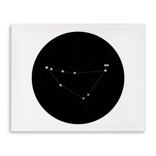 Kavka Designs Capricorn Black/White Canvas Art