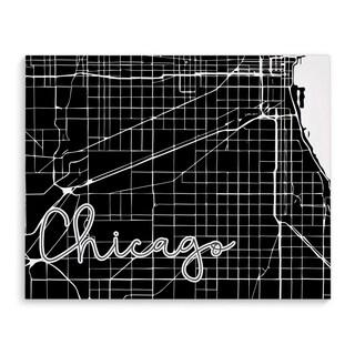 Kavka Designs Chicago Black/White Canvas Art
