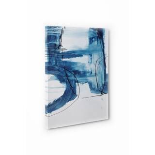Kavka Designs Blue Abstract Set Six Blue/Ivory Canvas Art