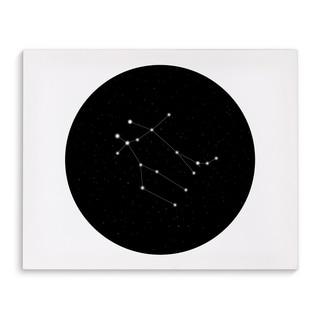 Kavka Designs Gemini Black/White Canvas Art