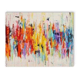 Kavka Designs Abstract Dance Red/Orange/Purple/Blue/Green Canvas Art