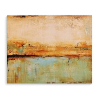 Kavka Designs Southwestern Abstract Taupe/Blue/Tan Canvas Art
