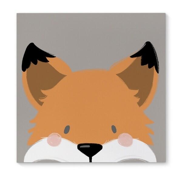 Kavka Designs Fox Orange/Grey/Black/Pink Canvas Art