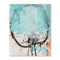 Kavka Designs Isla Bonita Blue/Grey Canvas Art