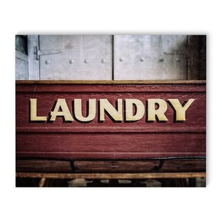 Kavka Designs Laundry Red Canvas Art