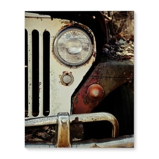 Kavka Designs Jeep Willys Green/Brown/Grey Canvas Art
