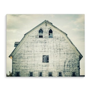 Kavka Designs Farmhouse White White Canvas Art