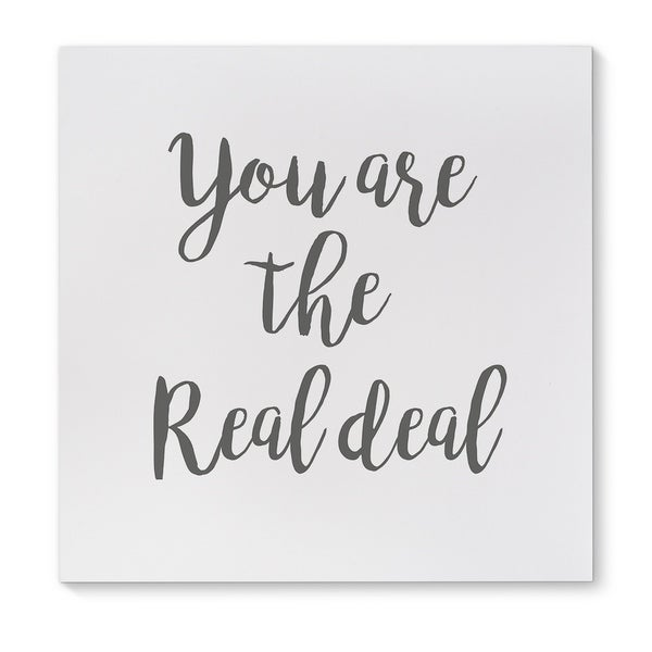Kavka Designs The Real Deal Black/White Canvas Art