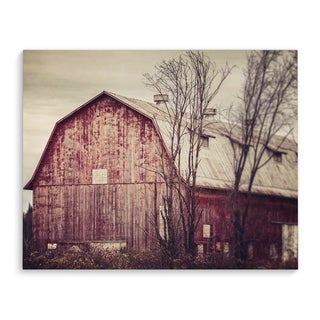 Kavka Designs Farmhouse Barn Red Abandoned Red/Grey/Brown Canvas Art