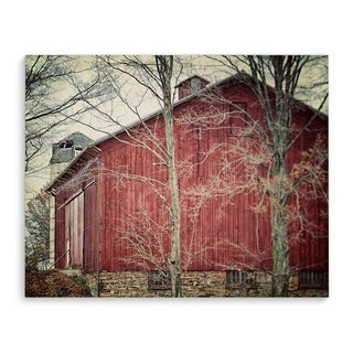 Kavka Designs Red Barn Red Canvas Art