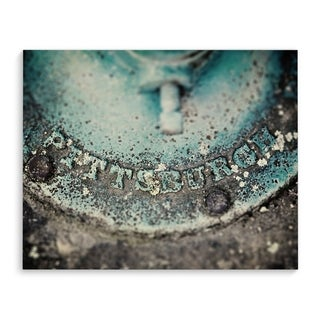 Kavka Designs Pittsburgh Teal Iron Teal Canvas Art