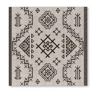 Kavka Designs Aztec Beige Beige/Grey Canvas Art