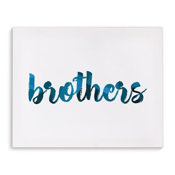 Kavka Designs Brothers Blue/White Canvas Art