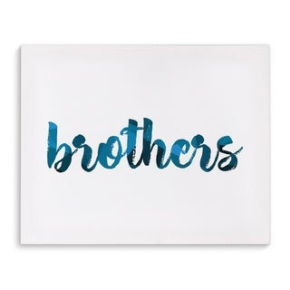 Brothers Blue/White Canvas Art