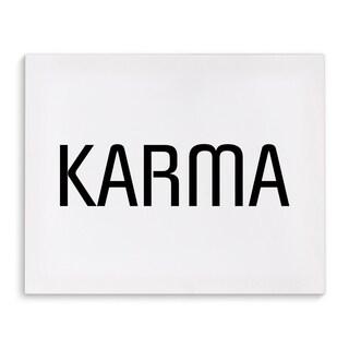 Kavka Designs Karma Black/White Canvas Art