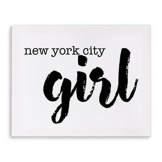 Kavka Designs NYC Girl Black/White Canvas Art