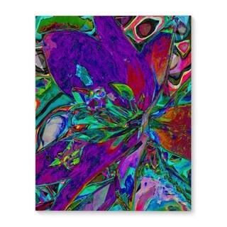 Kavka Designs Floral Purple/Blue Canvas Art