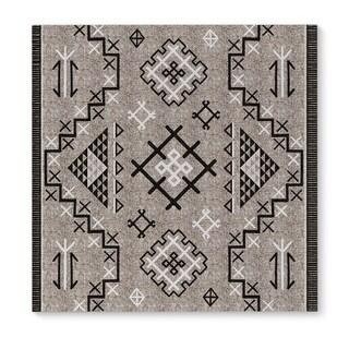 Kavka Designs Aztec Black Beige/Black Canvas Art