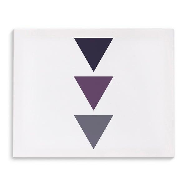 Kavka Designs Purple Ombre Triangles Purple/White Canvas Art