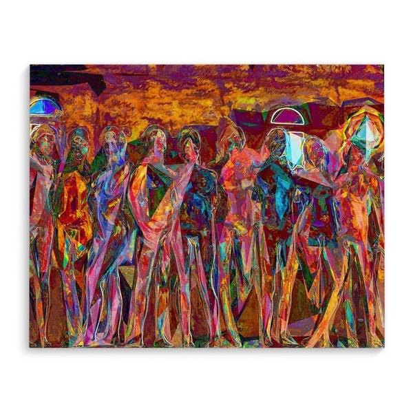 Kavka Designs Class Of 2014 Orange/Red/Green/Blue Canvas Art
