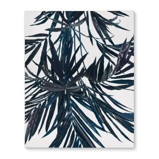 Kavka Designs Tropical Tree Blue Blue/White Canvas Art