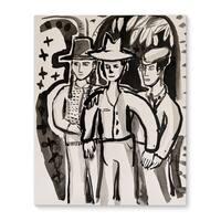 Kavka Designs Friends Grey/Ivory Canvas Art