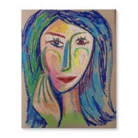 Kavka Designs Thinking Of Success Blue/Green/Pink Canvas Art