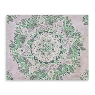 Kavka Designs Mandala Green/Grey Canvas Art