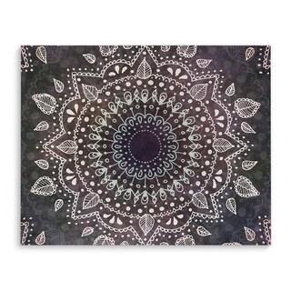 "Kavka Designs Mandala Grey/Blue/Green Canvas Art (24"" x 36"")"