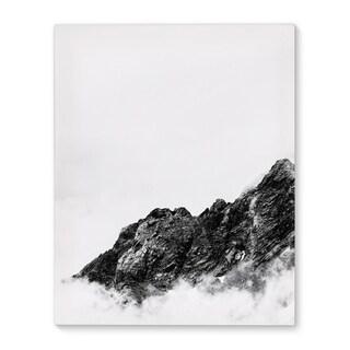 Kavka Designs Mountain Black/White Canvas Art