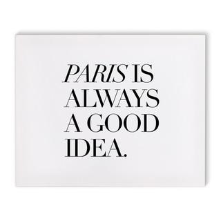 Kavka Designs Paris Good Black/White Canvas Art