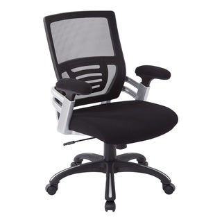 Black Mesh Back and Fabric Seat Office Chair with Nylon Base