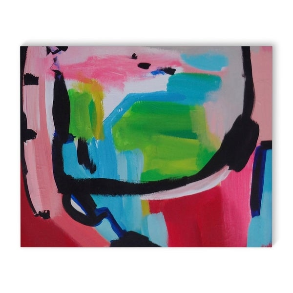Kavka Designs Bunny Bombshell Red/Blue/Black/Green Canvas Art