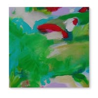 Kavka Designs Remix Green/Red/Blue/Pink Canvas Art