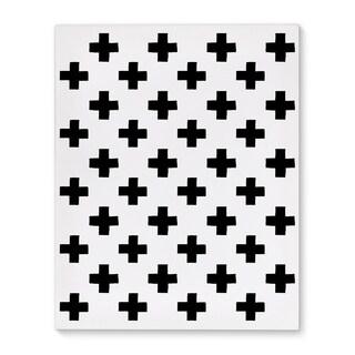 Kavka Designs Plus Pattern Black/White Canvas Art