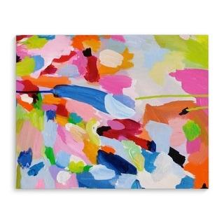 Kavka Designs Boom Boom Boom Blue/Pink/Orange/Red/Grey/Brown/Green Canvas Art