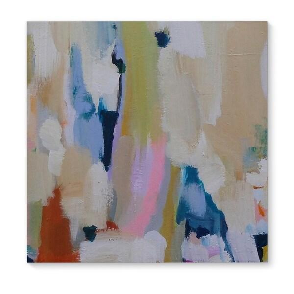 Kavka Designs Hello Sailor Tan/Blue/Brown Canvas Art