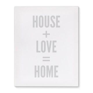 Kavka Designs House And Home Black/White Canvas Art