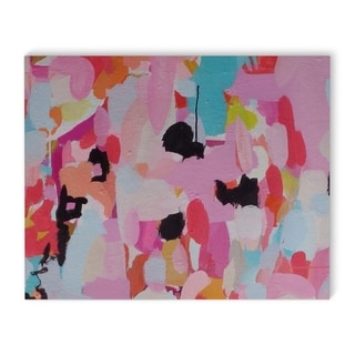 Kavka Designs Charm Dripper Pink/Blue/Black/Red Canvas Art